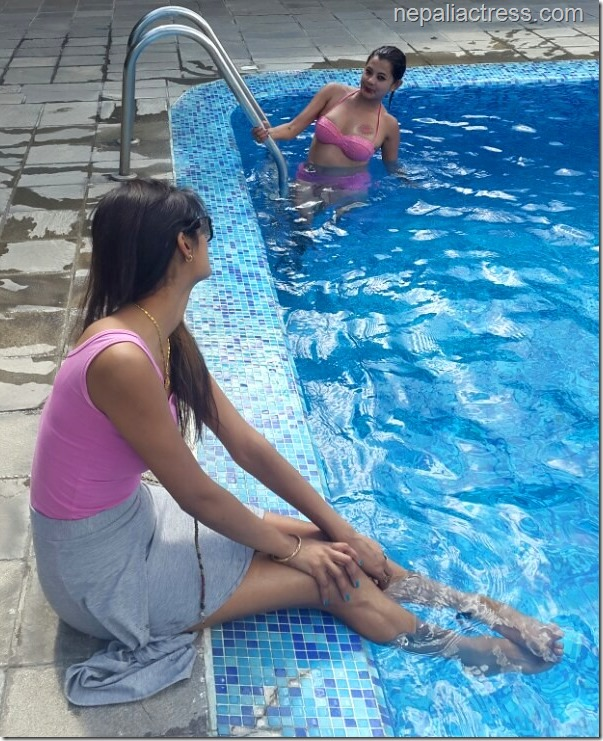 Sushma karki swimming pool5