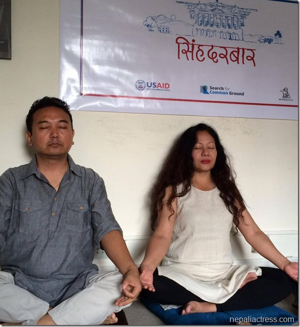 gauri malla and tshring in singhdurbar workshop