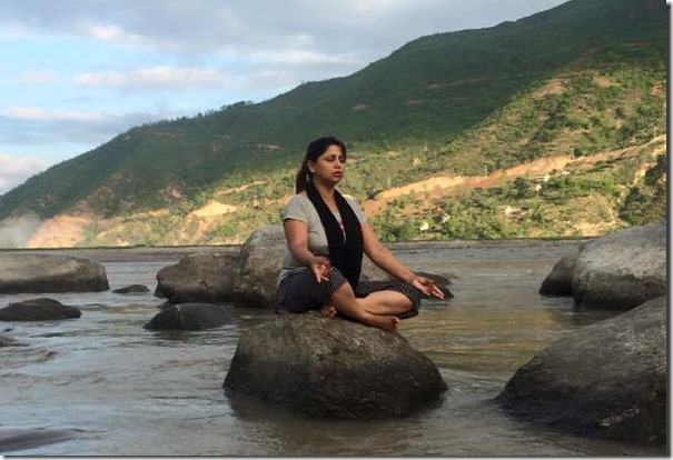 deepa shree niraula meditate