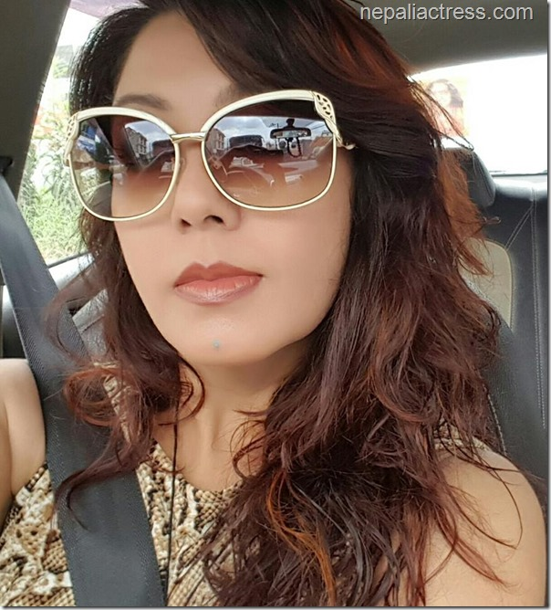 karishma manandhar driving with seat belt on