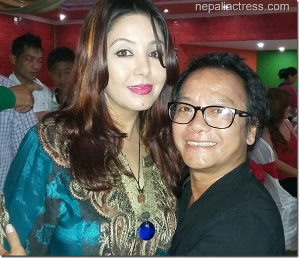 karishma manandhar with gobinda rai in nfdc award nomination ceremony