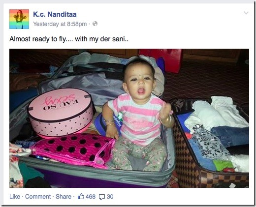 nandita kc suitcase usa