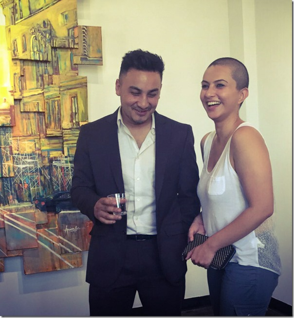 nisha adhikari with Arjun KC a Nepali artist in the USA 1
