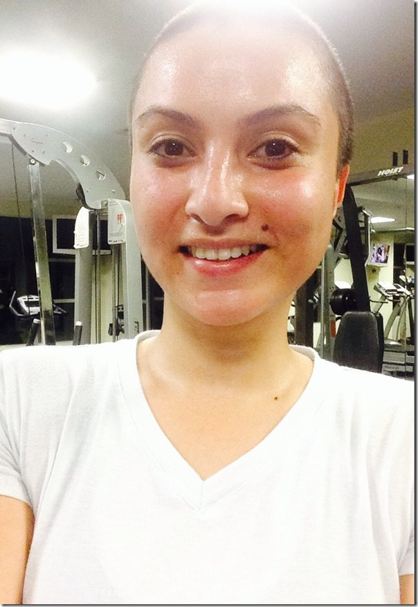nisha during a workout session