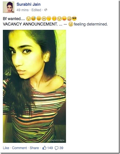 surabhi jain vacency announcement BF