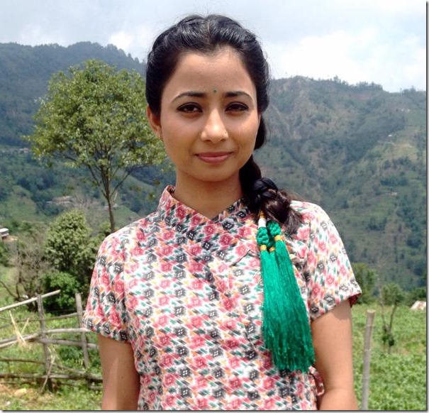 binita baral in nepali dress