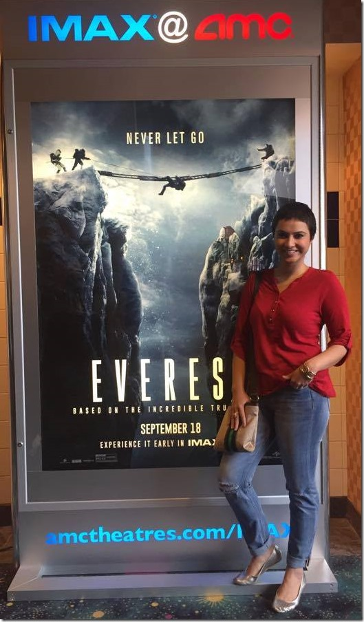 nisha adhikari watches Everest movie.