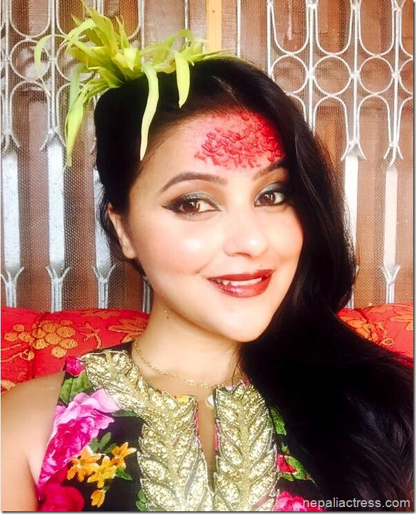 actress and model sushma adhikari dashain 2015