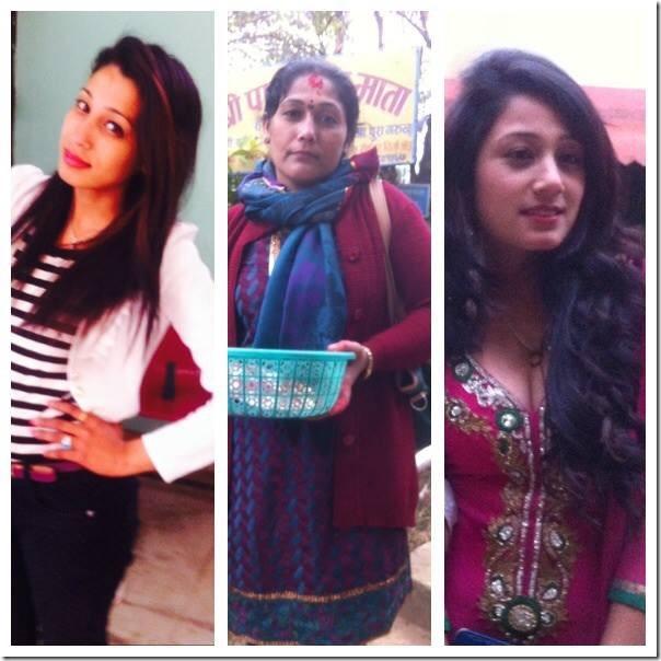 smita thapaliy with siya and mom