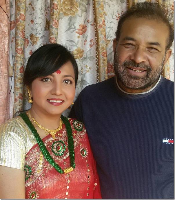 sarita lamichhane with her guru tulsi ghimire