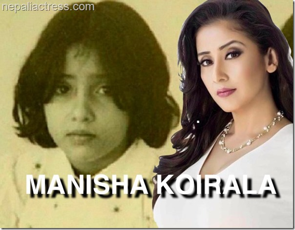 manisha koirala childhood photo