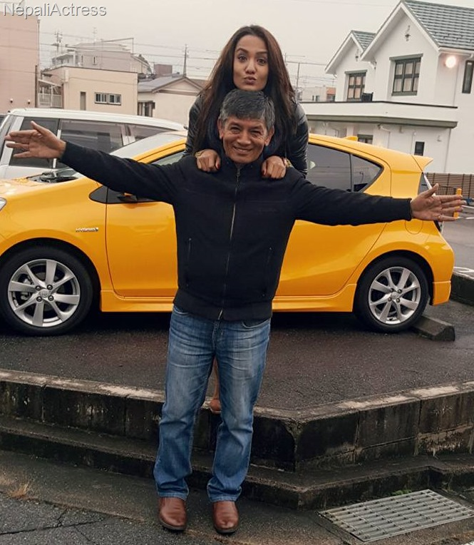priyanka karki and madan krishna shrestha in japan