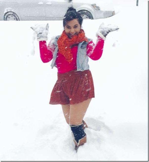 ranjana sharma in snow in usa