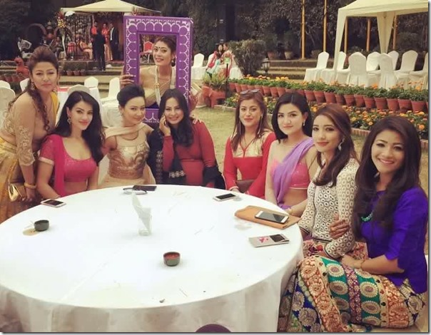 miss nepal team at zenisha moktan marroage