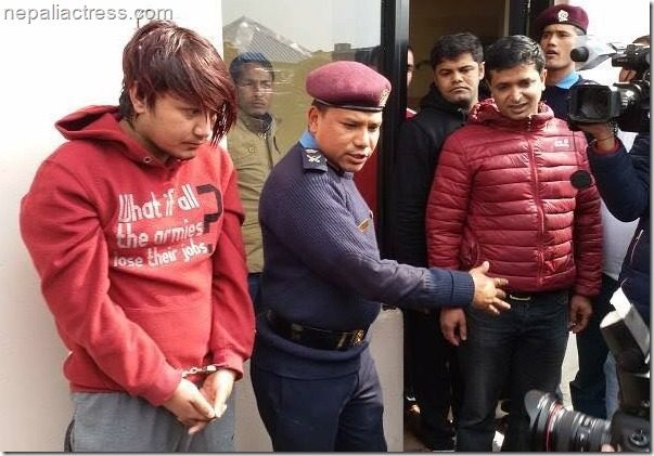 police show off satish khadgi the murderer of neha