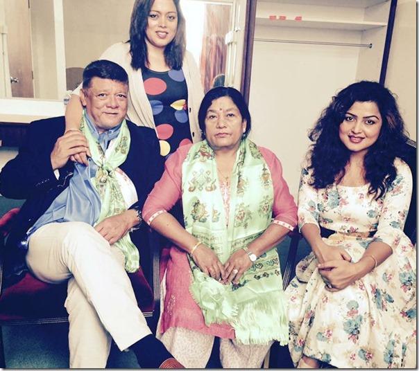 rekha thapa family with sunil thapa