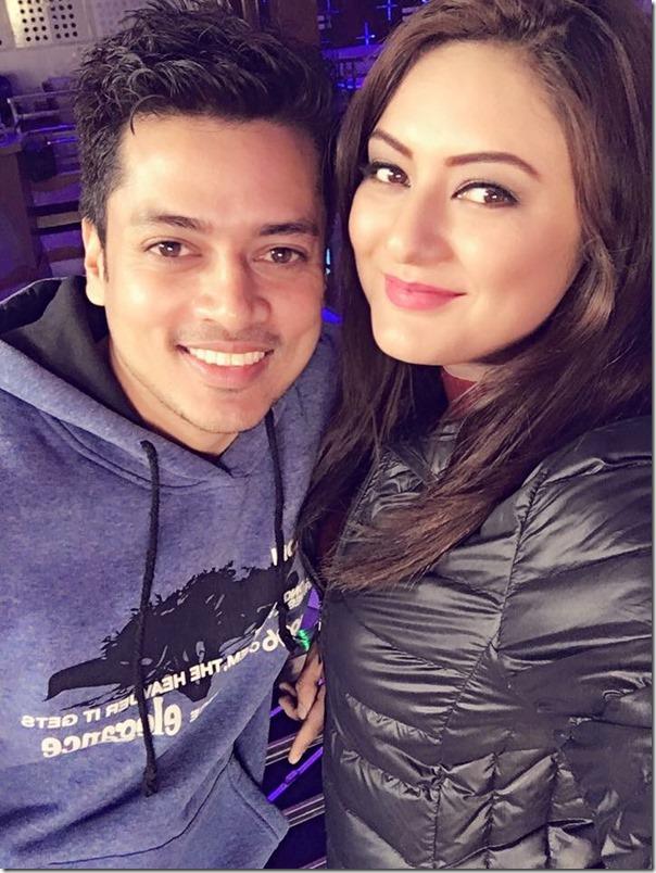 Barsha Raut with boyfriend Sanjog koirala