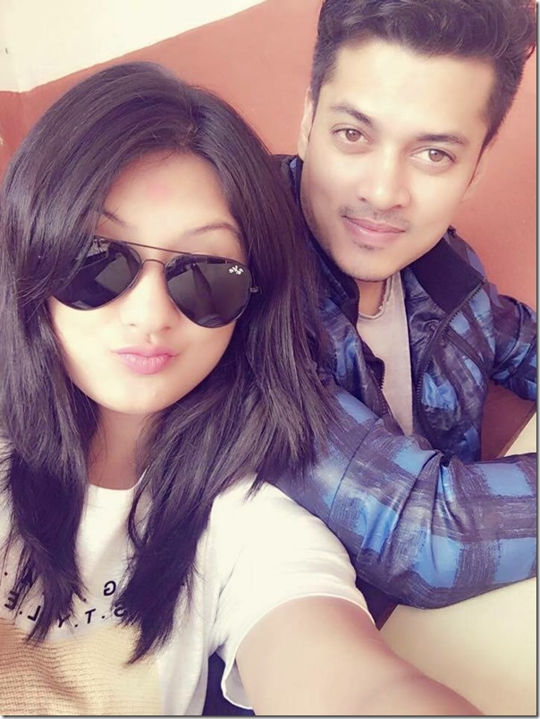 Barsha Raut and Sanjog Koirala