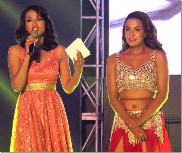 Priyanka Karki with Sahana Bajracharya Amar panchhi