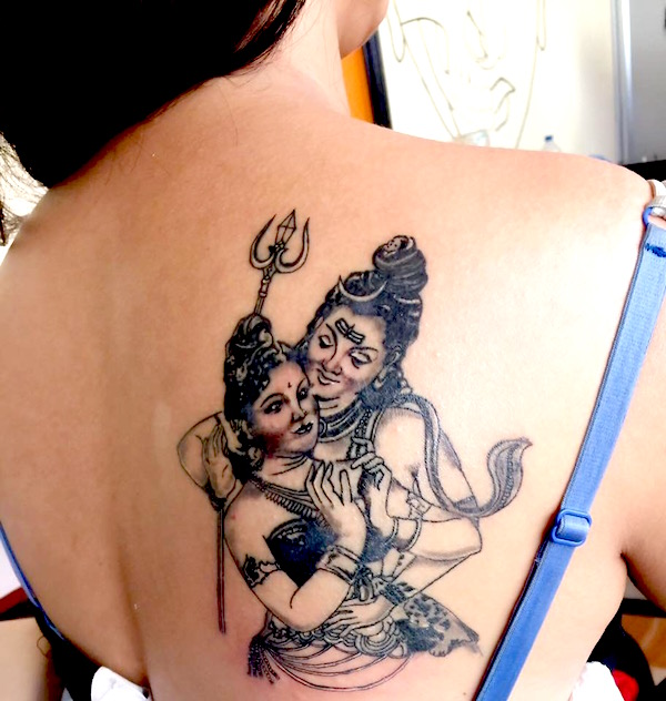 poojana pradhan new tattoo on her back