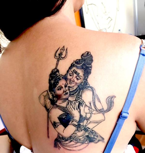 poojana pradhan new tattoo on her back