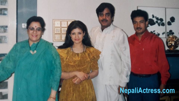 Shatrughna sinha with sharmila malla and krishna Malla