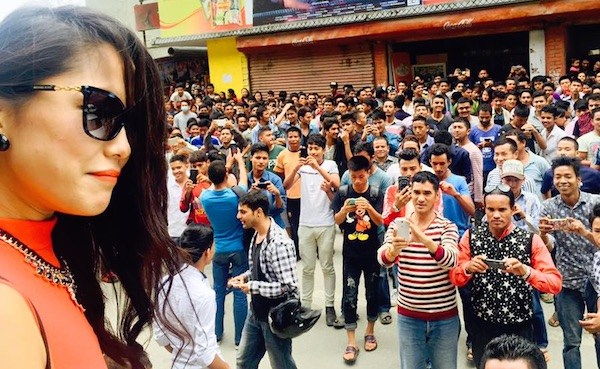 diya pun with the viewers of Bir Bikram