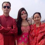kri actress aditi budhathoki with her father and mother