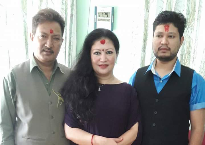 krishna malla and sharmila malla dashain