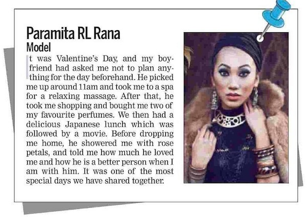 paramita rl rana talks valentine day
