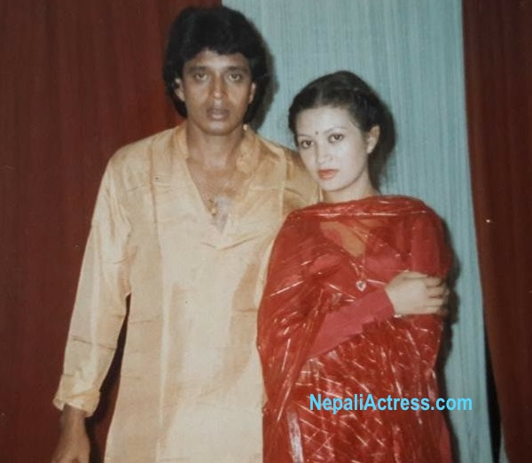 sharmila malla with bollywood actor mithun