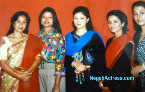 sharmila malla with other actress basundhara bhusal and mithila sharma