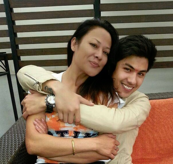sushmita kc with son anmol kc