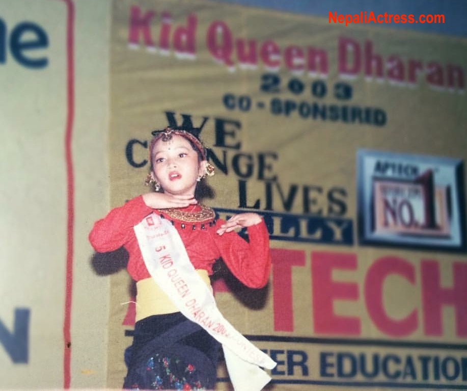 miruna-magar-participating-kid-queen-dharan-in-2003