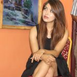 pooja-sharma-in-a-program-short-miniskirt