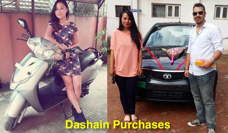 ashishma-nakarmi-and-malvika-subba-dashain-vehicle-purchases
