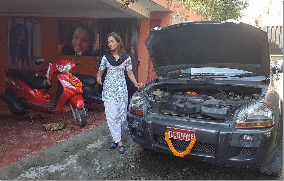 priyanka karki vehicles dashain 2016