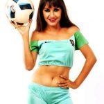 benisha-hamal-hot-photo-sky-blue-shorts